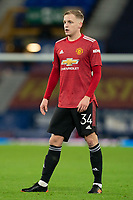 Football - 2020 / 2021 League Cup - Quarter-Final - Everton vs Manchester United - Goodison Park<br /> <br /> Manchester United's Donny van de Beek in action during todays match  <br /> <br /> <br /> COLORSPORT/TERRY DONNELLY