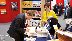 Labour Party Conference<br /> at Manchester Central, Manchester, Great Britain <br /> 24th September 2014 <br /> <br /> Owen Jones book signing <br /> The Establishment: And how they get away with it <br /> <br /> Photograph by Elliott Franks <br /> Image licensed to Elliott Franks Photography Services