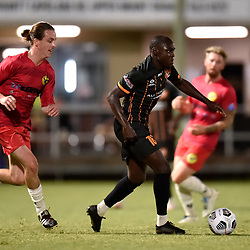 BRISBANE, AUSTRALIA - APRIL 14:  during the FFA Cup Preliminary Round 4 match between Eastern Suburbs and Bayside United on April 14, 2021 in Brisbane, Australia. (Photo by Patrick Kearney)