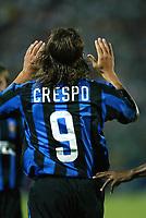 Ancona 12/08/2003<br />Trofeo Tim - Tim Cup <br />Hernan Crespo celebrates his goal against Juventus