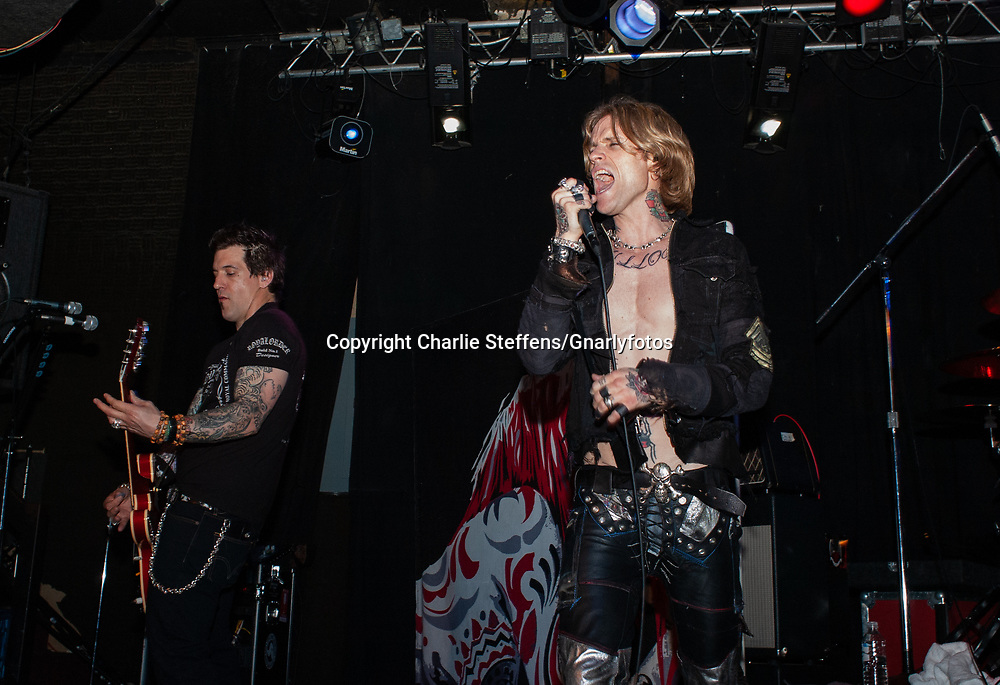 KEITH NELSON (L) and JOSH TODD of Buckcherry at the Whisky a Go Go in West Hollywood, California