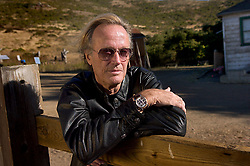 File photo dated August 15, 2007 of actor Peter Fonda visits Miwok Stables in Mill Valley, CA, USA. Peter Fonda, the star, co-writer and producer of the 1969 cult classic Easy Rider, has died at the age of 79. Peter Fonda was part of a veteran Hollywood family. As well as being the brother of Jane Fonda, he was also the son of actor Henry Fonda, and father to Bridget, also an actor. Photo by Randall Benton/Sacramento Bee/TNS/ABACAPRESS.COM