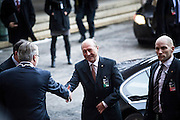 Romanian President Traian Basescu arrives at The Nobel Peace Prize ceremony in Oslo.