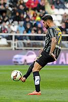 Malaga CF´s Samuel Garcia Sanchez during 2014-15 La Liga match between Rayo Vallecano and Malaga CF at Rayo Vallecano stadium in Madrid, Spain. March 21, 2015. (ALTERPHOTOS/Luis Fernandez)