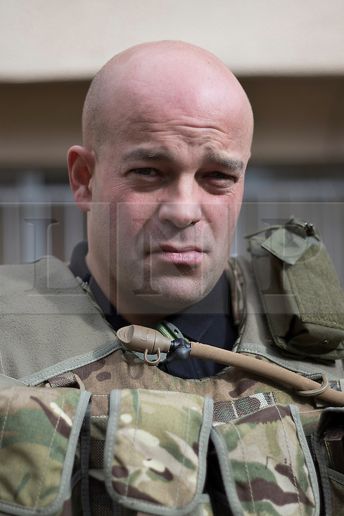 © Licensed to London News Pictures. 19/02/2015. Dohuk, Iraq. A portrait of Tim Locks, a British volunteer fighter serving with the Dwekh Nawsha Christian militia, taken in Dohuk, Iraqi-Kurdistan. Photo credit : LNP
