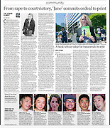 "Japam Times Community section. Portrait image of Catherine ""Jane"" Fisher (top right image only) July 15th 2014"