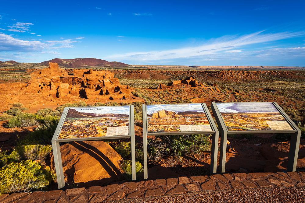 Interpretive display at Wupatki ruins, Wupatki National Monument, Arizona