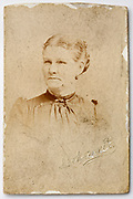 1900s carte visite style studio portrait of adult woman