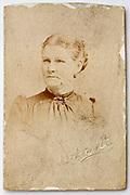 1900s carte visite style studio portrait of adult woman
