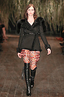 Karlina Caune walks down runway for F2012 Altuzarra's collection in Mercedes Benz fashion week in New York on Feb 10, 2012 NYC