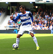 Daniel Tozser (QPR midfielder) launching a QPR attack during the Sky Bet Championship match between Queens Park Rangers and Nottingham Forest at the Loftus Road Stadium, London, England on 12 September 2015. Photo by Matthew Redman.
