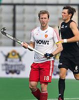 NEW DELHI - Aanvoerder van Engeland, Barry Middleton, tijdens de derde poulewedstrijd in de finaleronde van de Hockey World League tussen de mannen van Engeland en Nieuw-Zeeland. ANP KOEN SUYK