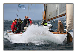 Day five of the Fife Regatta, Race from Portavadie on Loch Fyne to Largs. <br /> <br /> Mikado, Sir Micheal Briggs, GBR Burmudian Cutter, Wm Fife 3rd, 1904<br /> <br /> * The William Fife designed Yachts return to the birthplace of these historic yachts, the Scotland's pre-eminent yacht designer and builder for the 4th Fife Regatta on the Clyde 28th June–5th July 2013<br /> <br /> More information is available on the website: www.fiferegatta.com