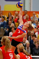 20140928 NED: Supercup, VC Sneek - Coolen Alterno: Sneek<br /> Marrit Jasper (7) of VC Sneek<br /> ©2014-FotoHoogendoorn.nl / Pim Waslander