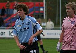 FODBOLD: Christian Tyron (Helsingør) under kampen i Kvalifikationsrækken, pulje 1, mellem Elite 3000 Helsingør og Skovshoved IF den 4. november 2006 på Helsingør Stadion. Foto: Claus Birch