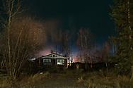 An old abandoned house along 1st Street in Nenana, Alaska