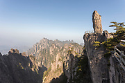Huangshan Mountain Range known also as Yellow Mountains is a UNESCO World Heritage Site well know for its scenery, peculiarly-shaped granite peaks, Huangshan pine trees, hot springs, winter snow and views of the clouds from above, Anhui Province, China