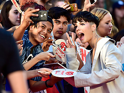 Halsey poses for photos with fans as she arrives on the red carpet at the iHeartRadio MMVAs in Toronto, ON, Canada, on Sunday August 26, 2018. Photo by Frank Gunn/CP/ABACAPRESS.COM