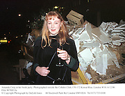 Amanda Craig at her book party. Photographed outside the Cobden Club, 170-172 Kensal Rise, London W10. 6/12/96<br />Film 96788f15a<br />© Copyright Photograph by Dafydd Jones<br />66 Stockwell Park Rd. London SW9 0DA<br />Tel 0171 733 0108