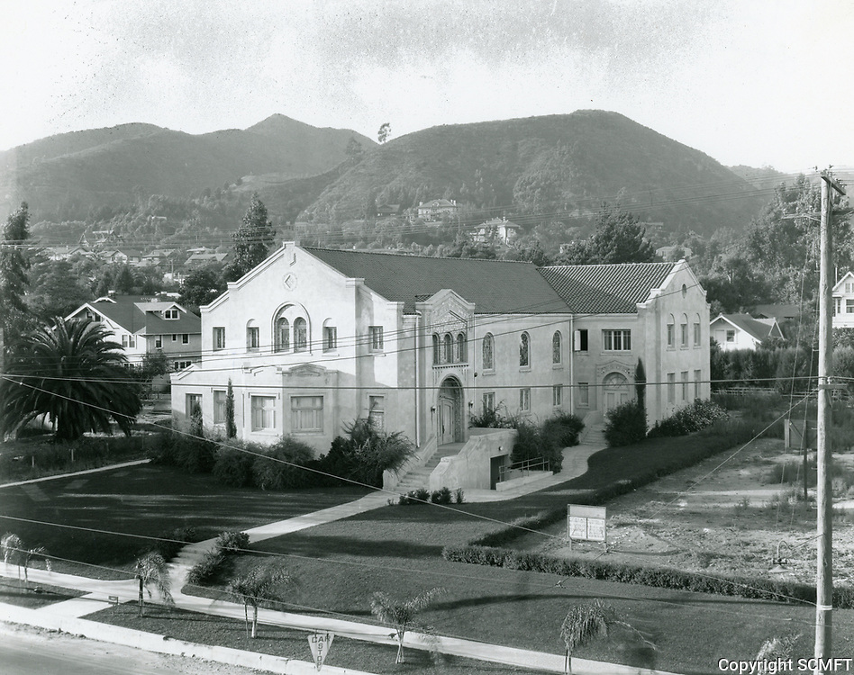 1922 Hollywood Congregational Church on Hollywood Blvd.