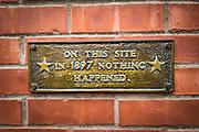 Humorous historic plaque, Ouray, Colorado USA