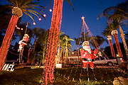 Candy Cane Lane, Woodland Hills, Los Angeles County, California, USA