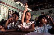 Philippines - Aurora - Young girls in a science lesson