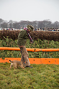 MARYKE SEEL, Heythrop Point to Point. At a  new course at Cocklebarrow near Aldsworth. 11 January 2014