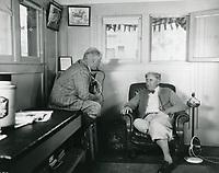 1927 Mack Sennett in a chair at his studio in Edendale, CA