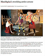 Photos taken during rehearsal performance of MocShplat, published in The Gazette (2011)