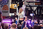 "Photos of The Band Perry performing live on stage for NBC's ""Today"" at Rockefeller Plaza, NYC on April 27, 2016. © Matthew Eisman. All Rights Reserved"