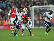 West Brom's Joleon Lescott tussles with Arsenal's Danny Welbeck<br /> <br /> Barclays Premier League- West Bromwich Albion vs Arsenal - The Hawthorns - England - 29th November 2014 - Picture David Klein/Sportimage