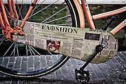 Closeup of Bike Fashion.