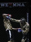 Kampfsport: MMA, We love MMA, Oberhausen, 31.01.2015<br /> Kai Sperr (Team G Fight, l.) - Sanjack Ji (Pride Gym Duesseldorf)<br /> © Torsten Helmke