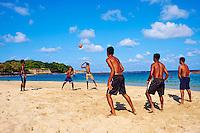Sri Lanka, province de l'Est, Trincomalee, Dutch bay, plage de Trincomalee, voley ball // Sri Lanka, Ceylon, Eastern Province, East Coast, Trincomalee, Dutch bay, Trincomalee beach, volley ball