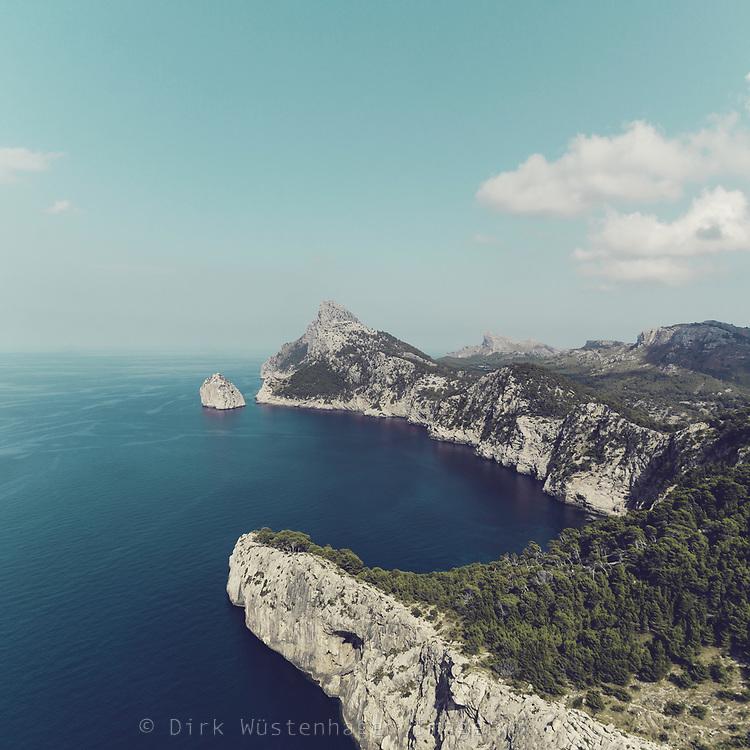 Coastal view near Cap Formentor, Mallorca, Baleares, Spain