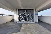 Nederland, the Netherlands, Kornwerderzand, 22-2-2018Het Vlietermonument bevindt zich bij de Vlieter, de plaats waar in 1932 de Afsluitdijk werd gesloten. Het is een monument in de vorm van een uitkijktoren, ontworpen door architect Willem Dudok. De toren is in 1933 gebouwd . Een volk dat leeft bouwt aan zijn toekomst .De Afsluitdijk zal de komende jaren aanpassingen krijgen om de verwachte zeespiegelstijging en extreem weer het hoofd te kunnen bieden .Foto: Flip Franssen