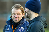 Heart of Midlothian manager Robbie Neilson during the Heart of Midlothian press conference, media and training session, ahead of the William Hill Scottish Cup Final, at the Oriam Sports Performance Centre, Edinburgh, Scotland on 15 December 2020.