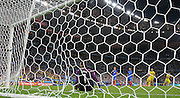 France Goalkeeper Hugo Lloris is beaten by a penalty goal by Romania Forward Bogdan Stancu during the Group A Euro 2016 match between France and Romania at the Stade de France, Saint-Denis, Paris, France on 10 June 2016. Photo by Phil Duncan.
