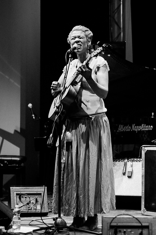 Carmen Souza live at Mann. Naples, Italy. 2017.