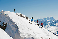 Men on a ski tour