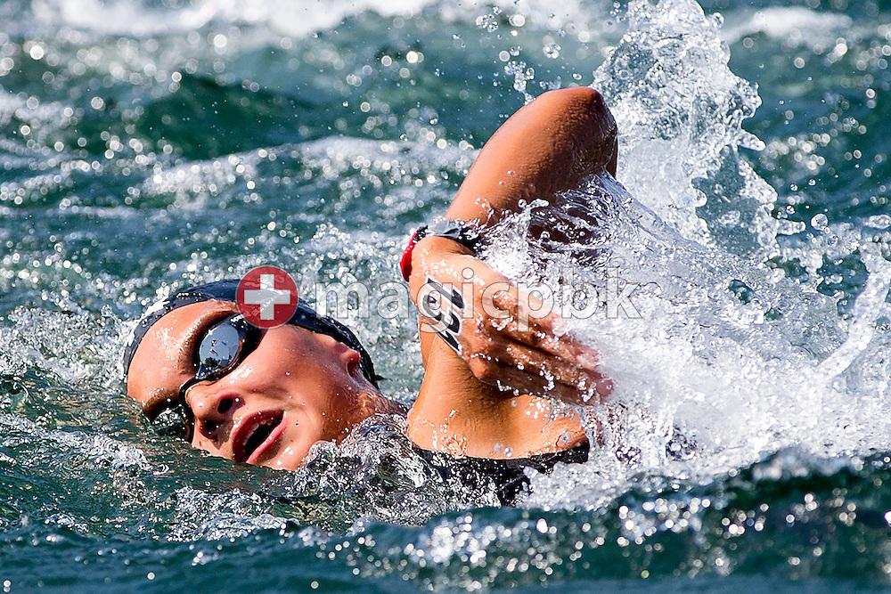 Elisa MARANI of Switzerland competes in the 3km Team Event during the LEN European Junior Open Water Swimming Championships held in the lake Maggiore (Lago Maggiore) at the Centro sportivo nazionale della gioventu in Tenero, Switzerland, Sunday, July 12, 2015. (Photo by Patrick B. Kraemer / MAGICPBK)