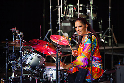 Sheila E. conducts the latest Arts in Education residency for K-12 students at the Reichhold center.  Students shared their talent for drums, singing, and dancing and learned about the types of instruments and sounds that Sheila E. is known for.  Sheila E. will be performing at the Reichhold center on Saturday, October 5th at 8pm.  4 October 2013.  Reichhold Center.  St. Thomas, USVI.  © Aisha-Zakiya Boyd