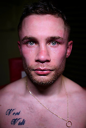 © London News Pictures. 29/12/2016. Two-weight world boxing champion, Carl Frampton, nickname The Jackal, pictured posing for a portrait at his gym in south London. Frampton has been named ESPN's fighter of the year. Photo credit: Ben Cawthra/LNP