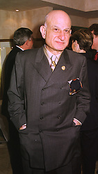 Publisher MR NAIM ATTALLAH, at a party in London on 27th January 1999.MNM 20