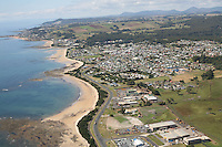 Arial view of Burnie coastline Tasmania Australia