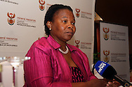PRETORIA - 15 November 2010 - South Africa's Mineral Resources minister Susan Shabangu is interviewed on the audit of  prospecting licences granted by her department.-- APP/Allied Picture Press