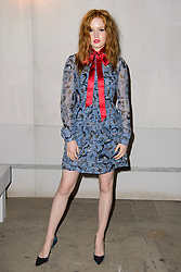 Ellie Bamber on the front row during the Erdem Autumn/Winter 2017 London Fashion Week show at the Old Selfridge's Hotel, London.PRESS ASSOCIATION Photo. Picture date: Monday February 20th, 2017. Photo credit should read: Matt Crossick/PA Wire.