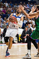 Real Madrid's player Gustavo Ayon during match of Liga Endesa at Barclaycard Center in Madrid. September 30, Spain. 2016. (ALTERPHOTOS/BorjaB.Hojas)