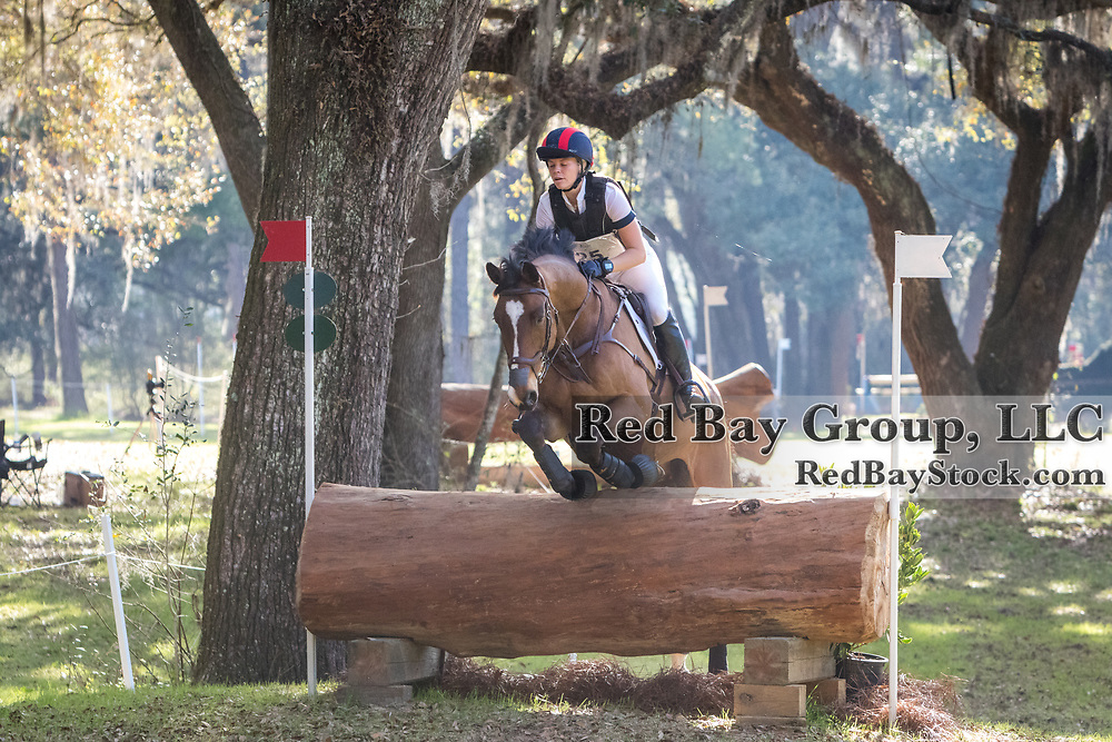 Alyssa Phillips (USA) and Cornelius Bo at the Red Hills International Horse Trials in Tallahassee,  Florida.